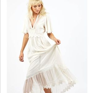 Cleobella Taj ivory maxi dress